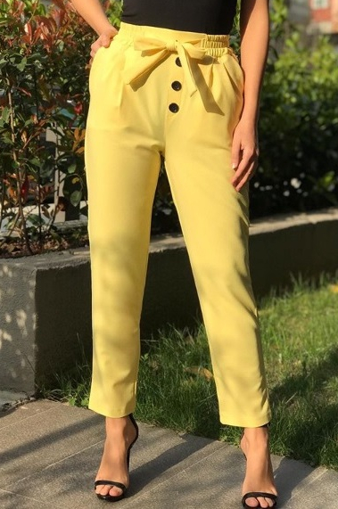 pantaloni fortuna galbeni 1.1
